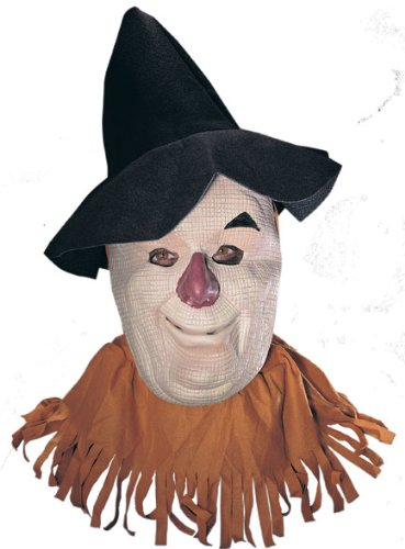 Deluxe Scarecrow Mask (Wizard Of Oz Scarecrow Mask, Tan, Adult)