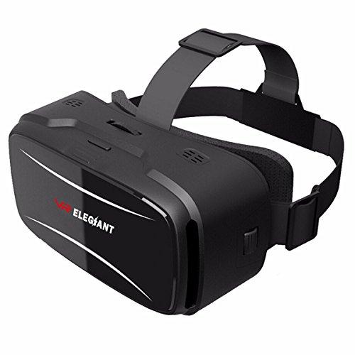 ELEGIANT 3D VR Headset Virtual Reality Glasses for 3D Movies Video Games Comfortable VR Goggles with Adjustable Lens and Eye Care System for iPhone and Android 4.0-6.0 inch Smartphone