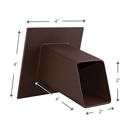 Gallant 2'' Square Water Fountain Spout Spillway Emitter Feature for Ponds, Pools, Water Walls, Etc - Textured Rust