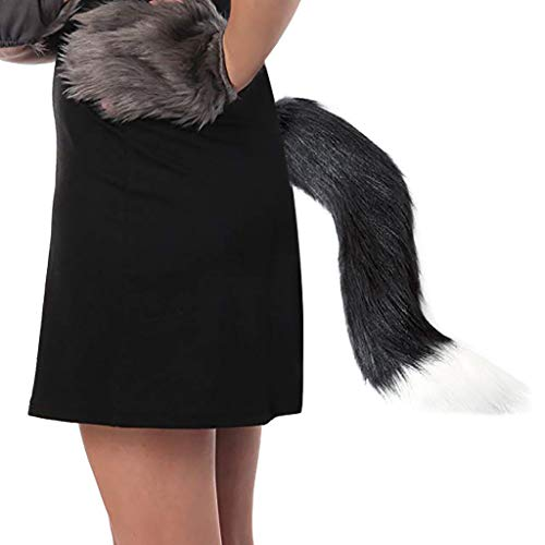HomeMals Halloween Adjustable Fox Tail Cosplay Furry Animal Adjustable Carnival Party