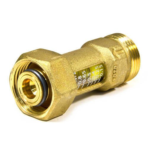TruFLOW Brass R20 Visual Flow Meter 0.15 to 0.8 gpm