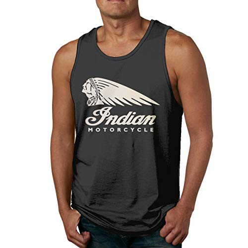 (NewSmarter Men's Tank Tops Indian Motorcycle Underwaist Funny Jersey Casual Sleeveless Vest T Shirt)