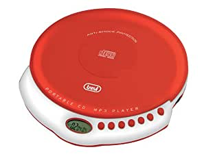Trevi CMP 498 Portable CD player Rojo, Color blanco - Unidad de CD (CD-A,MP3, CD de audio, LCD, Digital, 3,5 mm, 149 mm)