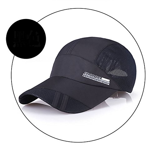 Classic Baseball Cap Hat Sport Mess Cap Unisex Adjustable Plain Snapback Cotton Dad Cap Polo Style Women Men Youth Kids Boys Girls Father (Black) -