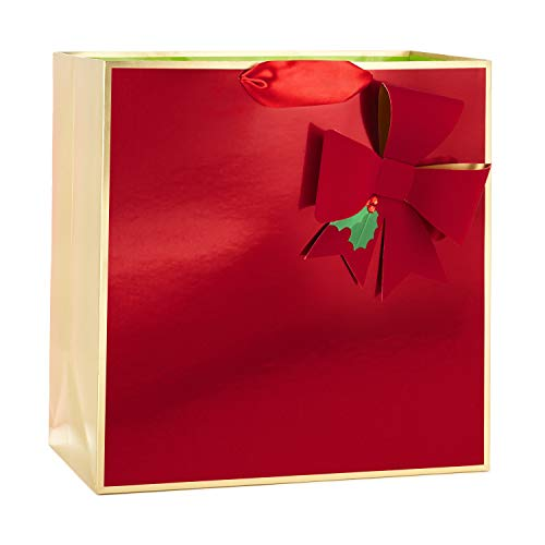Hallmark Signature Extra Large Christmas Gift Bag (Holly with Bow)
