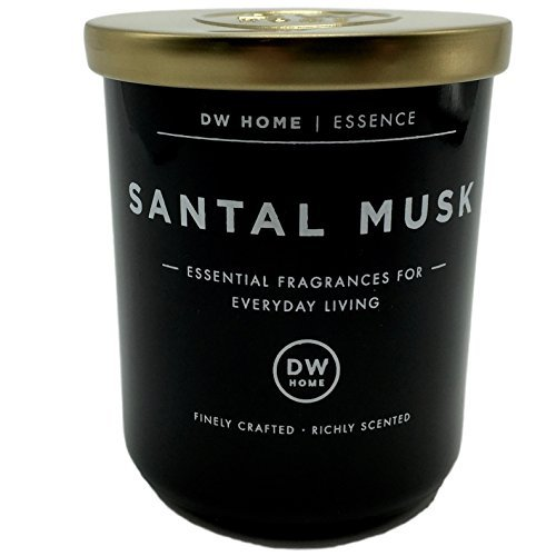 Dw Home Small Santal Musk Scented Soy Wax Blend Candle Essential Fragrances For Everyday Living 3.8 Oz.
