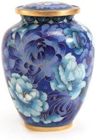 Blue Near /& Dear Pet Memorials Elite Cloisonn/é Floral Pet Cremation Urn 50 Cubic Inch