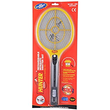 Spartan Hunter Mosquito Resistant Bat/Rechargeable Mosquito Swatter/Zapper Racket (Multicolor, Pack of 1) 8