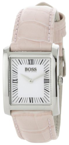 Hugo Boss Women's 1502198 H4012 Silver Dial Pink Leather Strap Watch