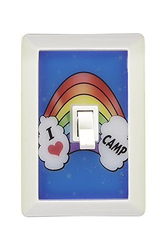 LED Night Light Switch Battery-Operated Mount Anywhere Great For Closets, Lockers, Bedrooms, Camping & Travel by GILBIN'S
