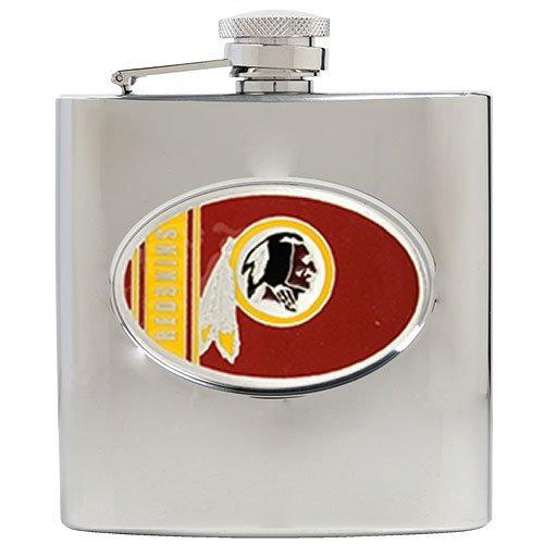 NFL Washington Redskins 6oz Stainless Steel Hip Flask (Nfl Redskins Candy Washington)
