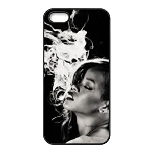 Rihanna iPhone 5S considerarprotectoras escayolada dura de la piel Funda para iPhone 5/5S high quality rubber case for iPhone 5/5S