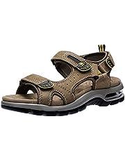 5252c68f952 CAMEL CROWN Hombre Senderismo Sandalias Verano Deportivas Sandalia de  Outdoor de Playa de Cuero Casual Zapatos