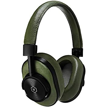 591bfdd742d Master & Dynamic MW60 Headphones, Premium Leather Over-Ear Headphones with  Extended Bluetooth 4.1 Range & 45mm Neodymium Driver, Black Metal/Olive  Leather