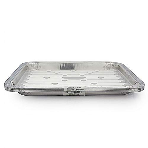 12-Pack 13x10 Disposable Aluminum Foil Grill Tray Liner Sheet Pans for BBQ, Broiling, Baking, Cooking (Best Frozen Lasagna Costco)