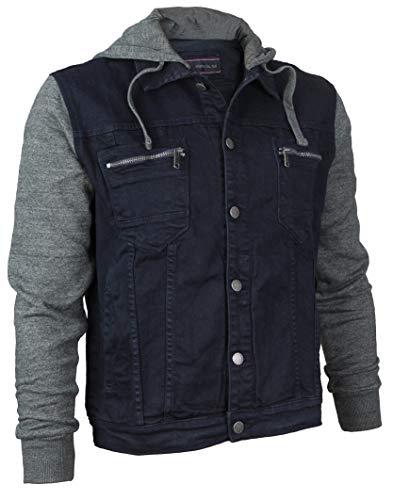 - Vertical Eagle Boy's Kids Cotton Hooded Denim Jean Jacket BVE 1810 (8, Indigo)