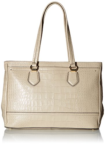 Cole Haan Tali Double Zip Work Tote, Taupe Crocodile (Triple Zip Tote)