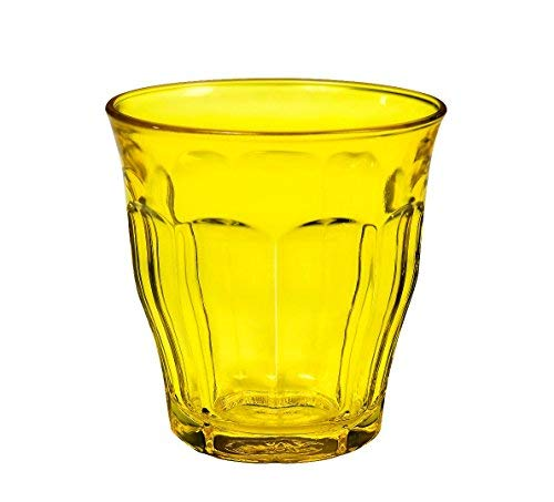 Duralex 1027S RO6 A11S3 Picardie Colors Yellow 8.75 oz 25 Cl Glass Tumbler,