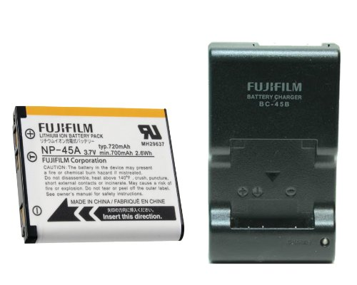 BC45B Battery Charger + NP45A Li-Ion Battery For Fuji