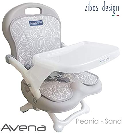 Sedietto Zibos Avena Peonia Sand Seggiolino Da Tavolo Alzasedia Sfoderabile E Lavabile Amazon It Prima Infanzia