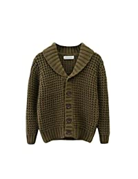 Hajotrawa Boys' Coat Classical Jumper Cute Knitted Solid Color Cardigans