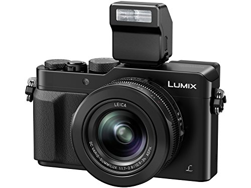 PANASONIC LUMIX LX100 4K Point and Shoot Camera, 3.1X LEICA DC Vario-SUMMILUX F1.7-2.8 Lens with Power O.I.S., 12.8 Megapixel, DMC-LX100K (USA BLACK)