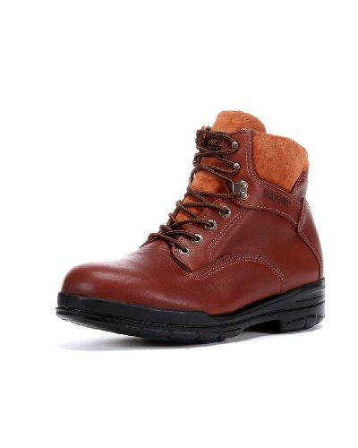 W03120 Wolverine Men's 6IN Dri-Lex Safety Boots - Brown - 13