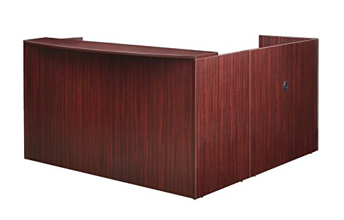 (Regency LRDRT2BF-MH Pedestal Reception Desk Legacy Double Box File, 71