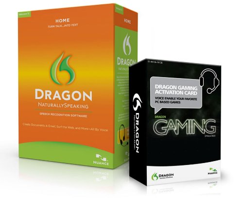 Dragon NaturallySpeaking Home 11 with Gaming Speechpack