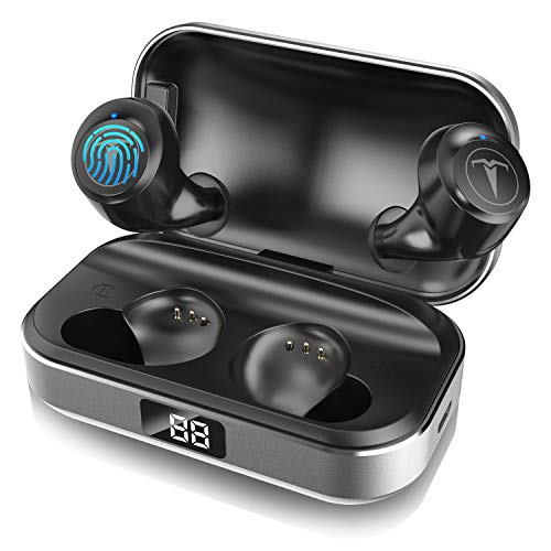 Bluetooth Headphones,TAGRY 5.0 True Wireless Earbuds Deep Bass HiFi Stereo Sound 30H Playtime Bluetooth Earphones in Ear Binaural Call Headset with Charging Case and Built in Mic for Sports Running