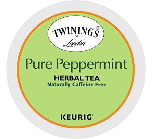 Keurig Tea and Ice Tea Pods K-Cups 18/22 / 24 Count Capsules ALL BRANDS/FLAVORS (Twinings/Chai/Celestial/Lipton/Tazo/Diet Snapple) (24 Pods Pure Peppermint Tea) -  Globalpixels