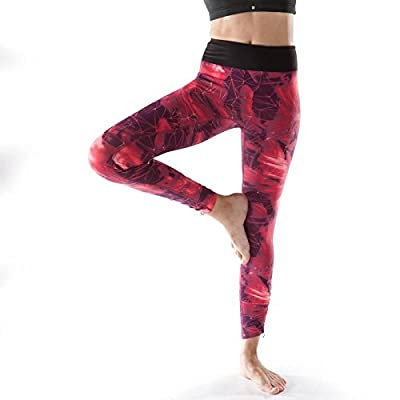 MAYUAN520 Mme Winter Yoga Fitness Pantalons Pantalons Taille Épaissie Peach Fesse Collants Pantalon Élastique Respirante À Séchage Rapide,Xs,Claret