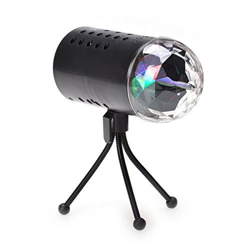 TSSS LED RGB Crystal Light Rotating Rainbow Color Effect Stage Disco DJ Wedding Family Birthday Children Celebration Event Home Party Lighting Effect