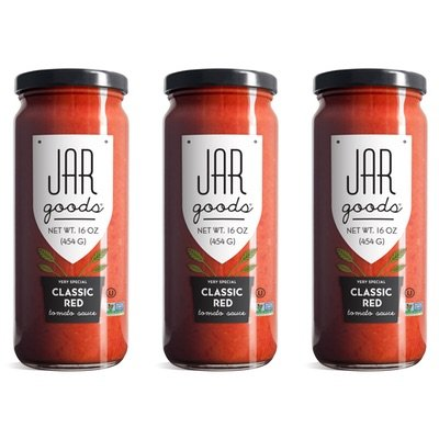 Jar Goods Classic Red Tomato Sauce 16 oz Glass Jars (Pack of 3)