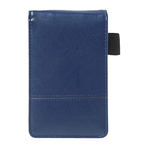 GOLDEN2STAR - Pocket A7 Notebook Leather Cover Notepad Memo Diary Planner With Calculator Business Work Office Supplies