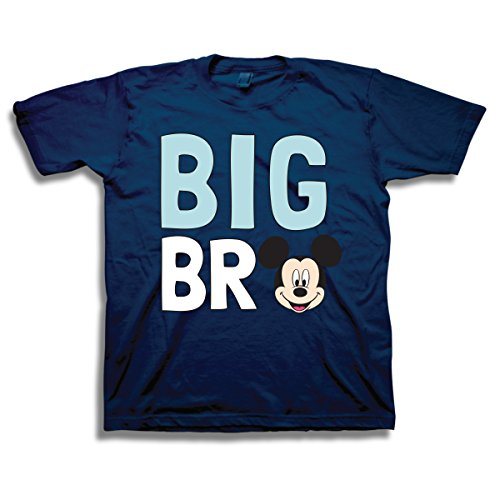 Disney Mickey and Minnie Mouse Siblings T-Shirt (2T, Big Bro) -