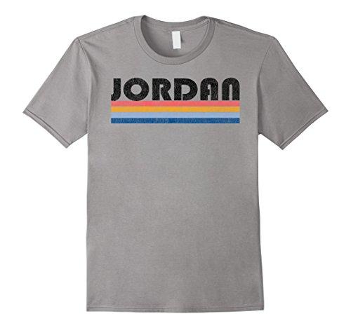 Mens Vintage 1980s Style Jordan T Shirt Large Slate