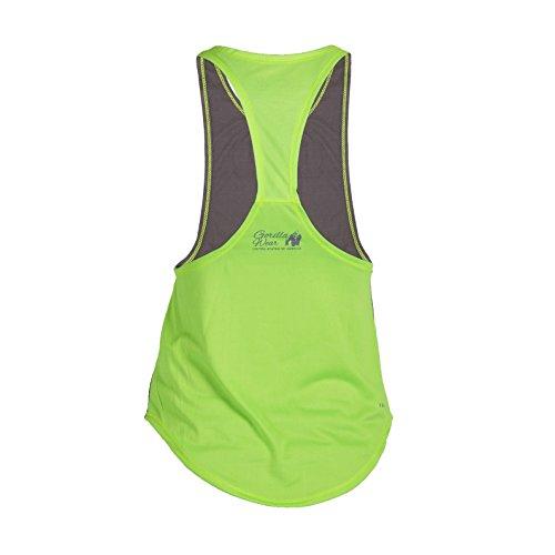 Gorilla Wear Womens Florida Stringer Tank Top Gray/Neon Lime - grau/neon limette - Bodybuilding und Fitness Tanktop für Damen