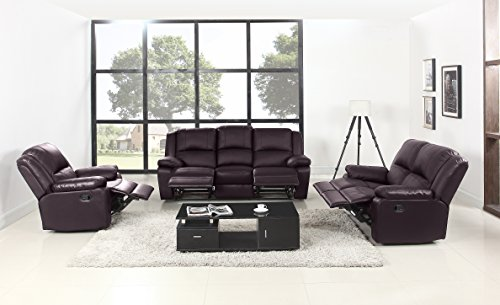 classic oversize and overstuffed living room recliner set 3
