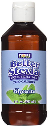 NOW Foods Stevia Glycerite Liquid Extract, 8-Ounce