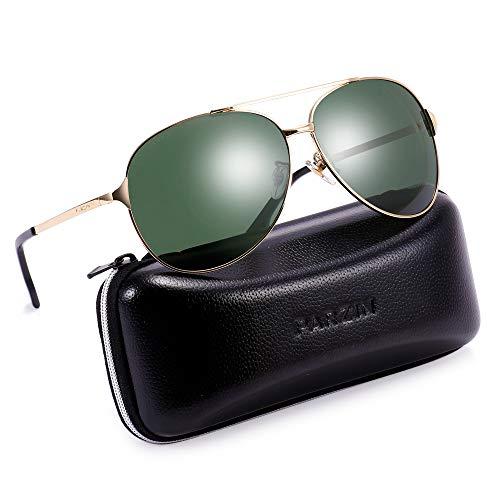 Polarized Aviator Sunglasses for Men Women Metal Frame Driving beach Sunglasses 100% UV Protection …