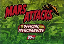 Mars Attacks Heritage Official Merchandise Advertising Promo Insert from Mars Attacks