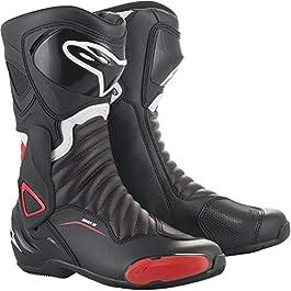 Alpinestars SMX-6 V2 Boots, Black/Red, 43, multicolour
