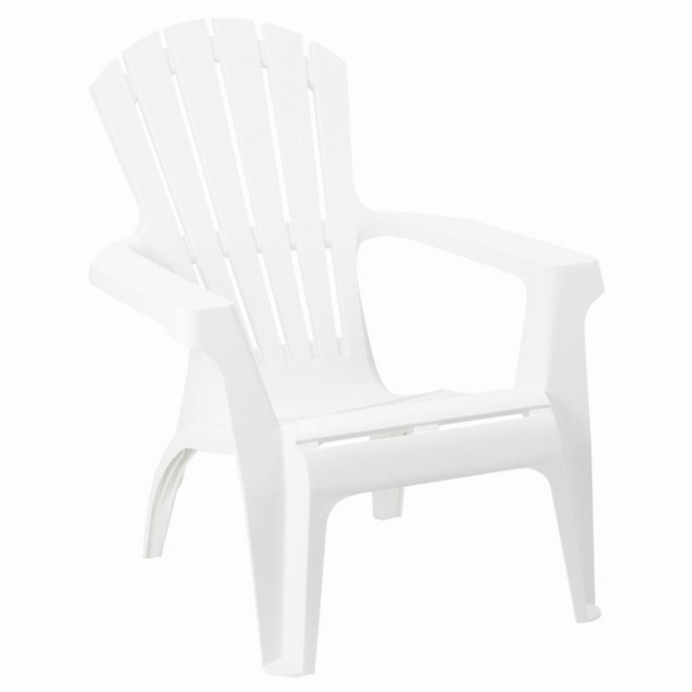 IPAE-Progarden Dolomiti Stackable Monoblock Armchair, White, 75 x 86 x 86 cm