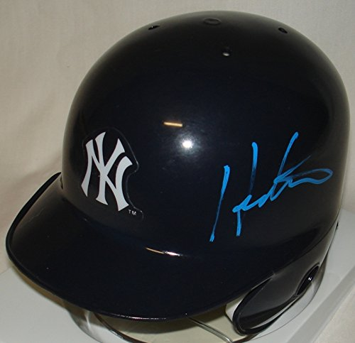 Autographed Baseball Batting Helmet (Hideki Matsui Hand Signed / Autographed New York Yankees Mini Baseball Helmet)