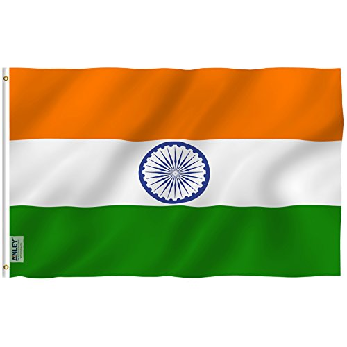 Anley |Fly Breeze| 3x5 Foot India Flag - Vivid Color and UV