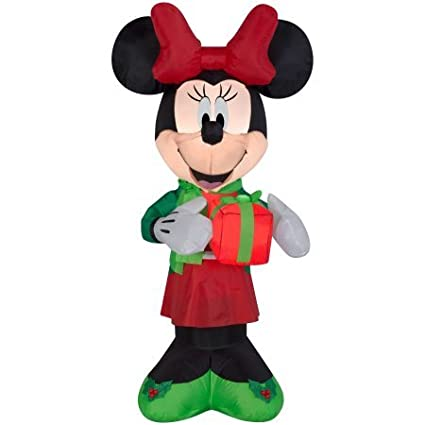 minnie mouse christmas inflatable 5 ft tall with led