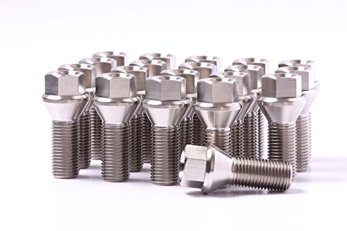 14x1.5 Titanium Lug Bolts 28mm Shank 20 pieces 6AL4V Aerospace Grade Cone Seat
