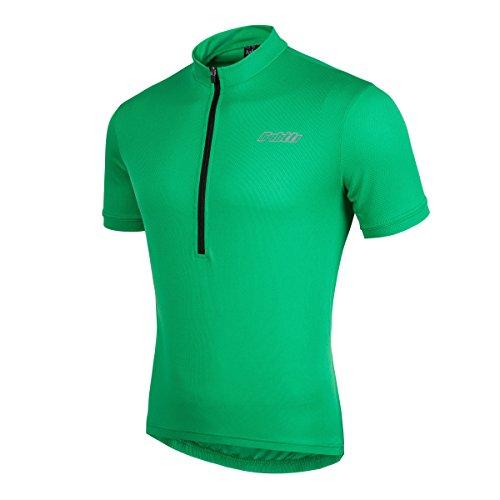 Bpbtti Men s SS Bike Biking Shirt Solid Color Cycling Jersey (Chest  42-44