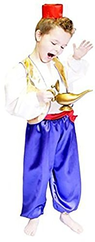 Stage-Panto-World Book Day-Character-Prince ALADDIN Child's Fancy Dress Costume